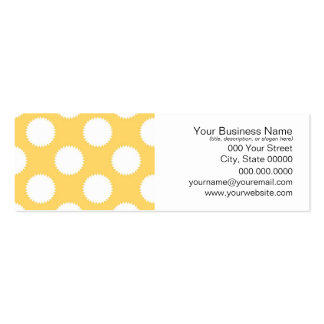 Yellow and White Polka Dots Business Cards