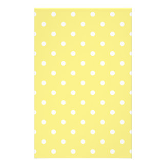 Yellow and White Polka Dots Pattern. 14 Cm X 21.5 Cm Flyer