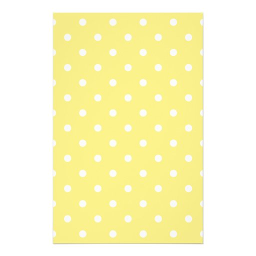Yellow and White Polka Dots Pattern. Personalized Flyer