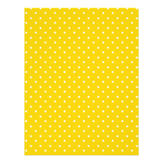 Yellow and White Polka Dots Pattern Flyers