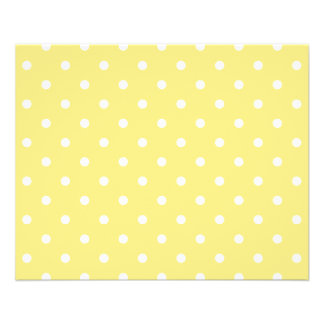 Yellow and White Polka Dots Pattern. Flyer Design