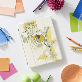 Yellow and White Roses iPad Cover