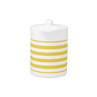 Yellow and White Stripe Pattern