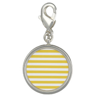 Yellow and White Stripe Pattern