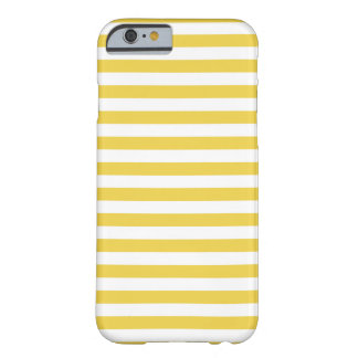 Yellow and White Stripe Pattern Barely There iPhone 6 Case