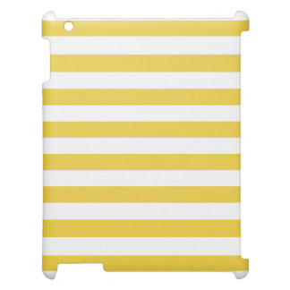 Yellow and White Stripe Pattern Cover For The iPad