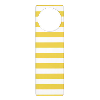 Yellow and White Stripe Pattern Door Hanger