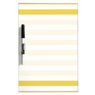 Yellow and White Stripe Pattern Dry-Erase Boards