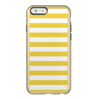 Yellow and White Stripe Pattern Incipio Feather® Shine iPhone 6 Case