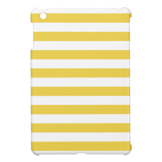 Yellow and White Stripe Pattern iPad Mini Cover