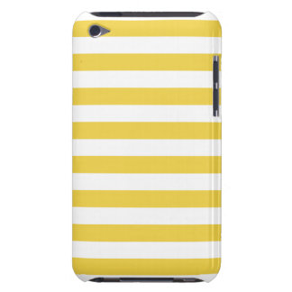 Yellow and White Stripe Pattern iPod Case-Mate Cases