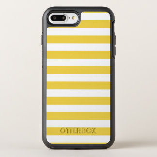 Yellow and White Stripe Pattern OtterBox Symmetry iPhone 8 Plus/7 Plus Case