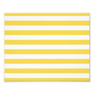 Yellow and White Stripe Pattern Photo Print