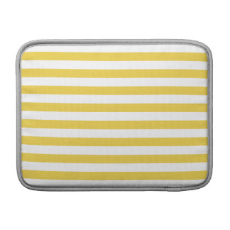 Yellow and White Stripe Pattern Sleeve For MacBook Air