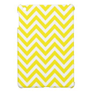 Yellow and White Stripe Zigzag Pattern iPad Mini Cover