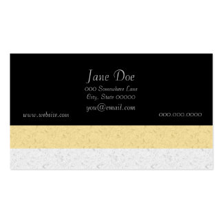 Yellow and White Stripes Pack Of Standard Business Cards