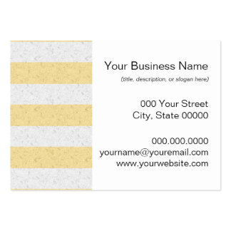 Yellow and White Stripes Business Cards