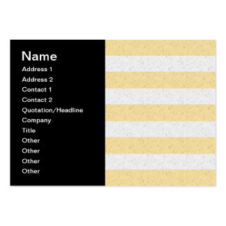 Yellow and White Stripes Business Card Templates