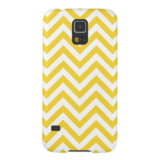 Yellow and White Zigzag Stripes Chevron Pattern Case For Galaxy S5