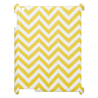 Yellow and White Zigzag Stripes Chevron Pattern Case For The iPad