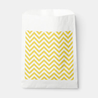 Yellow and White Zigzag Stripes Chevron Pattern Favour Bag