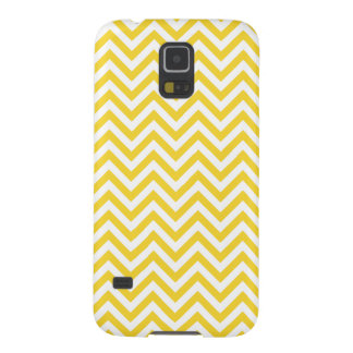 Yellow and White Zigzag Stripes Chevron Pattern Galaxy S5 Cases