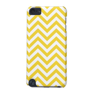 Yellow and White Zigzag Stripes Chevron Pattern iPod Touch (5th Generation) Cases