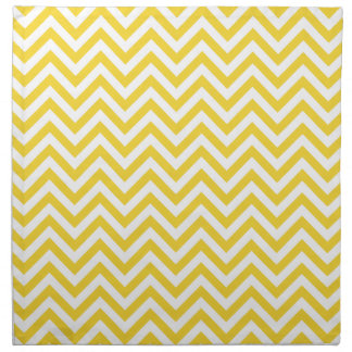Yellow and White Zigzag Stripes Chevron Pattern Napkin