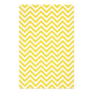 Yellow and White Zigzag Stripes Chevron Pattern Stationery
