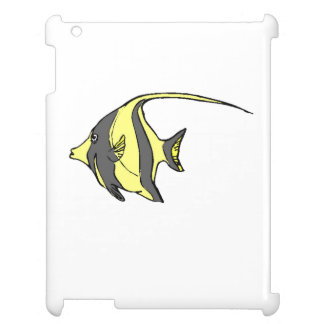 Yellow Angel Fish iPad Cases