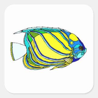 Yellow Angel Fish Stickers