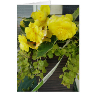 Yellow Angel Wing Begonias, Thinking Of You Card