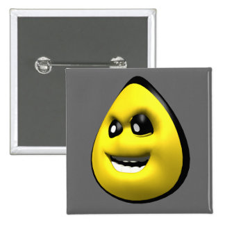 Yellow angry corn smiley face pins