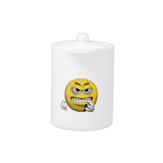 Yellow angry emoticon or smiley