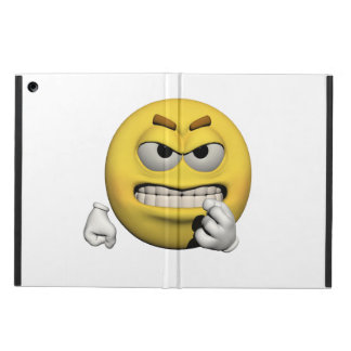 Yellow angry emoticon or smiley iPad air cover