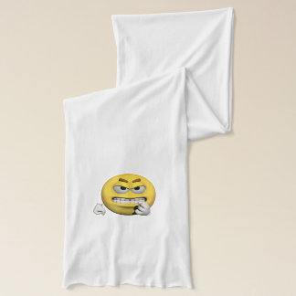Yellow angry emoticon or smiley scarf