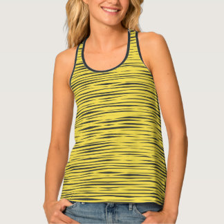 Yellow Animal Print Pattern Tank Tank Top
