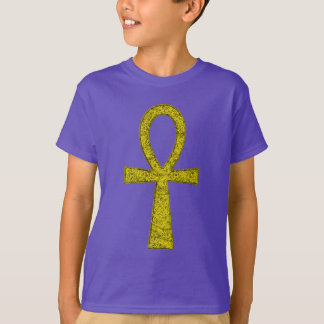 Yellow Ankh Kids' T-Shirt
