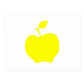 Yellow Apple Shape Postcard