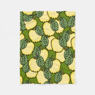 Yellow Apples Fleece Blanket