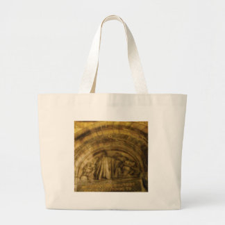 yellow arch stonework large tote bag