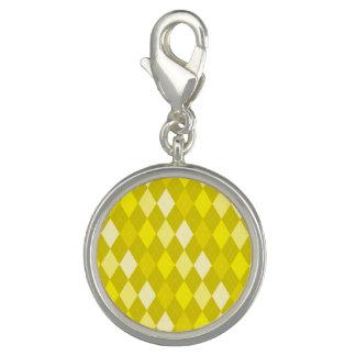 Yellow argyle pattern