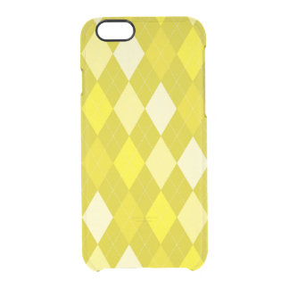 Yellow argyle pattern clear iPhone 6/6S case
