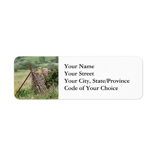 Yellow Arrow Address Labels