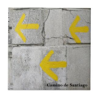 Yellow Arrows Camino Tile