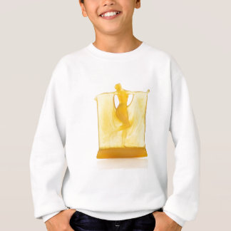 Yellow Art Deco glass statue of a dancer. Sweatshirt