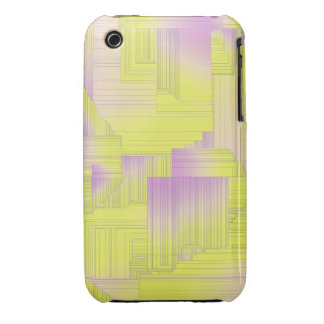 Yellow Art Deco iPhone 3 Cover