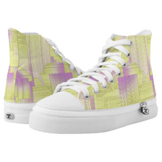 Yellow Art Deco Printed Shoes