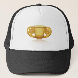 Yellow Art Deco Swirl Vase. Trucker Hat