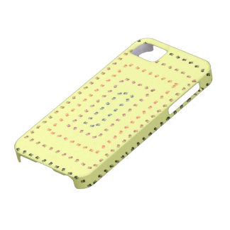 Yellow art design barely there iPhone 5 case